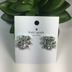 NWT Kate Spade Patina Crystal Cluster Earrings